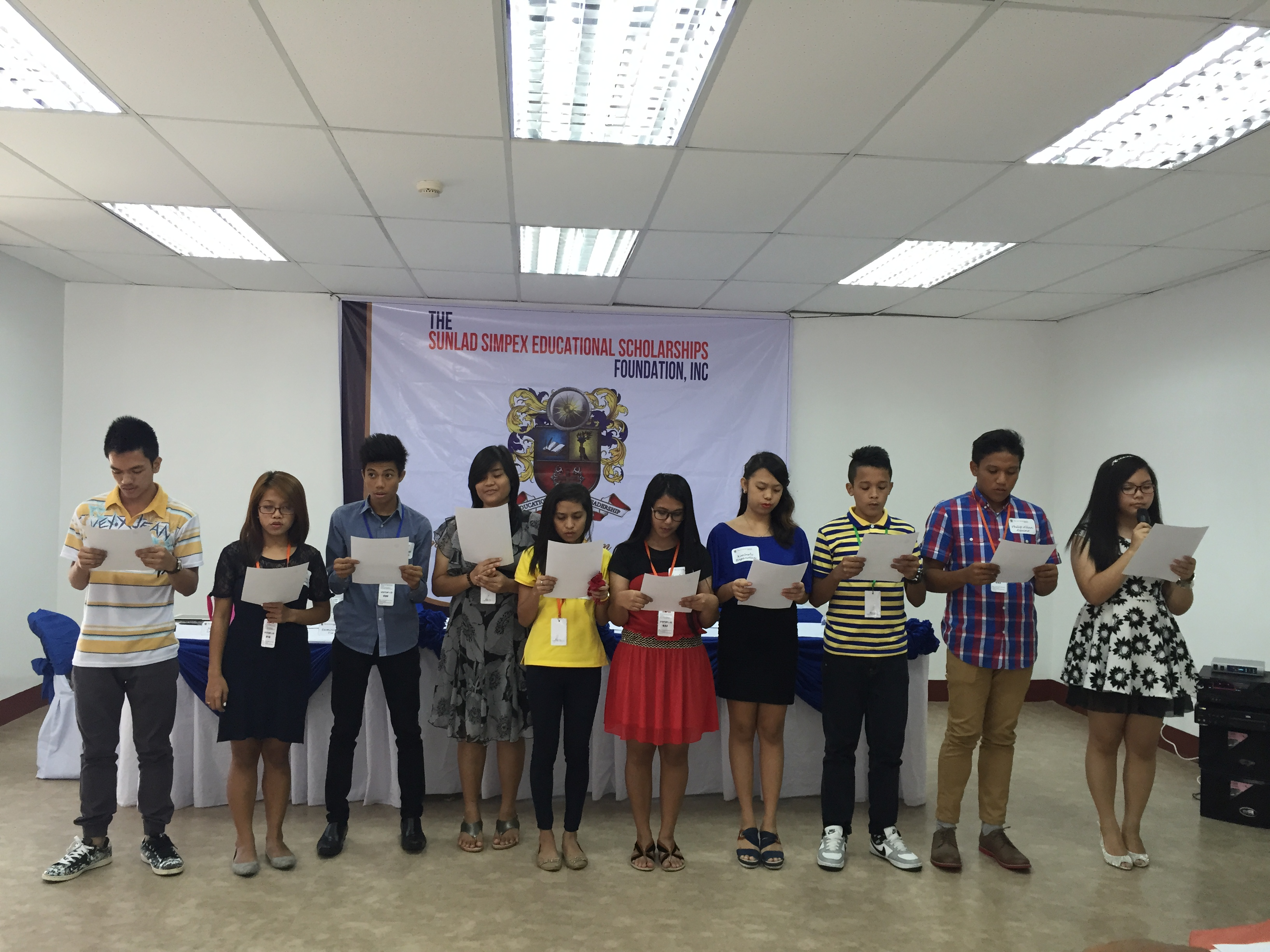 Signing of Memorandum of Agreement and Presentation of Luzon Scholars S. Y. 2015- 2016